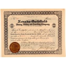 Nevada-Goldfield Mining, Milling, & Smelting Co. Stock  (102522)