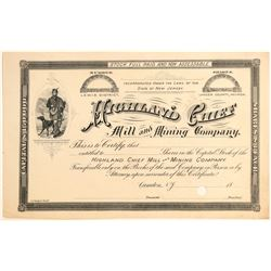 Highland Chief Milla and Mining Company Stock  (91960)