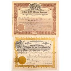 Two Marietta, Nevada Mining Stock Certificates  (102178)