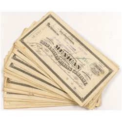 Mexican Gold & Silver Stock Certificates (40)  (51928)