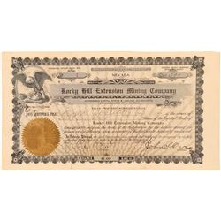 Rocky Hill Extension Mining Co. Stock signed by John S. Orr  (101624)