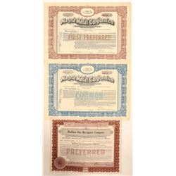 Mining Process / Equipment Co. Stock Certificates  (102191)