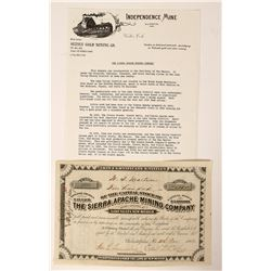 Sierra Apache Mining Company Stock  (90543)