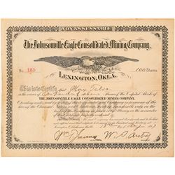 Johnsonville Eagle Cons. Mining Company Stock Certificate  (101541)