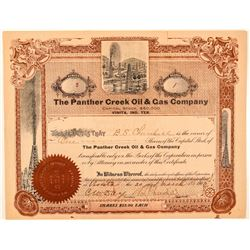 Panther Creek Oil & Gas Company Stock Certificate  (100996)