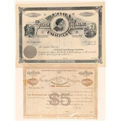 Two Deadwood Area Mining Stock Certificates  (100803)