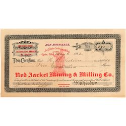 Red Jacket Mining & Milling Co. Stock Certificate  (100792)