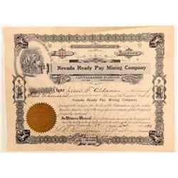Nevada Ready Pay Mining Company Stock Certificate  (102171)
