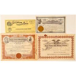 3 California / 1 Nevada Mining stock  (100413)