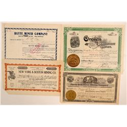 Western US Mining Stock Certificates  (102208)