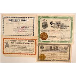 Western US Mining Stock Certificates  (102208)