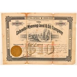Colorado & Wyoming Land & Oil Co. Stock Certificate  (100939)