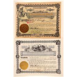 Two Yukon Mining Stock Certificates  (100891)