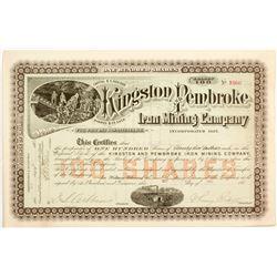 Kingston and Pembroke Iron Mining Company Stock  (81920)