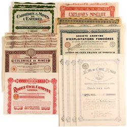 A Variety of Foreign Mine Stocks & Bonds/ One Coal Company Bond   (81807)