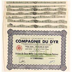 Compagnie Du Dyr Mining Bond Certificates  (81805)