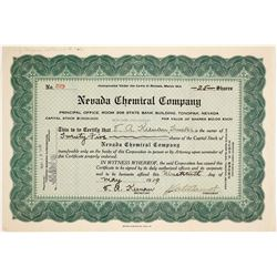 Nevada Chemical Company stock  (81865)