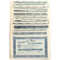Societe des Mines de Boudoukha (Ivory Coast, Africa) Bond Certificates  (81810)