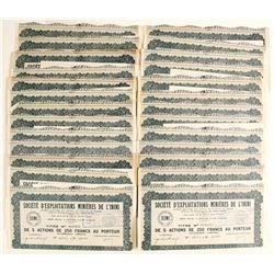 Societe D'exploitations Minieres De L'inini Bond Certificates  (81815)
