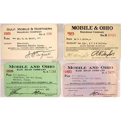 Four Mobile Railroad Passes  (60314)