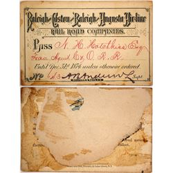 Raleigh and Gaston & Raleigh and Augusta Air Line Rail Road Co. Pass, 1874  (59194)