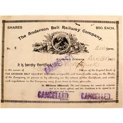 Anderson Belt Railway Company  (82207)