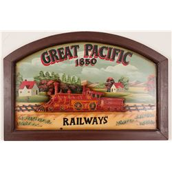 Great Pacific Railways Decorative Wood Sign  (91519)
