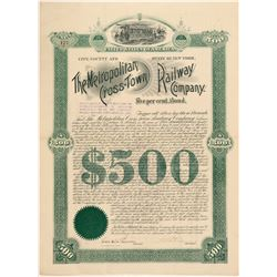 Metropolitan Cross-Town Railway Co. bond  (101377)