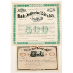 Mississippi RR Stock and Receiver Certificate  (101389)