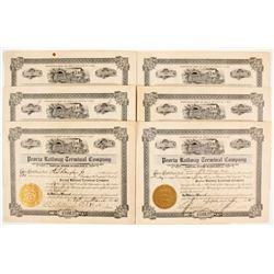 Peoria Railway Stocks and Peoria Terminal Railway Company Stocks  (81104)