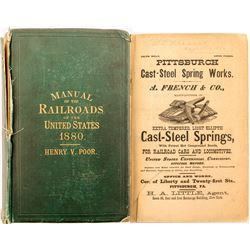 Poor's Manual of Railroads Of the US 1880  (52208)