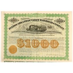 Pueblo and Arkansas Valley Railroad Co  bond  (102460)