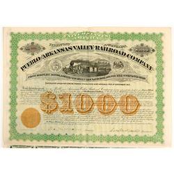 Pueblo and Arkansas Valley Railroad Co  bond  (102460)