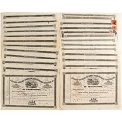 Second & Third Street Passenger Railway Company Stock Certificates  (81065)