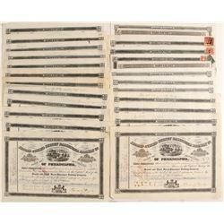 Second & Third Street Passenger Railway Company Stock Certificates  (81065)
