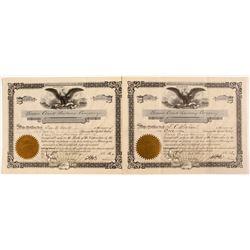 Swan Creek Railway Company Stock Certificates  (81068)