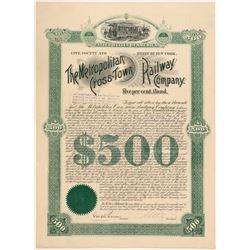 Metropolitan Cross-Town Railway Co. bond  (101376)