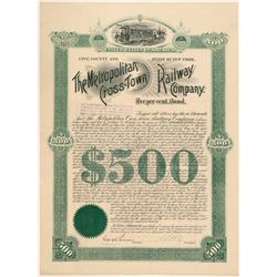 Metropolitan Cross-Town Railway Co. bond  (101376)