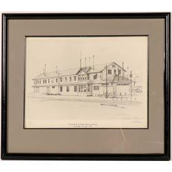 Tonopah & Goldfield Railroad Depot Litho  (91514)
