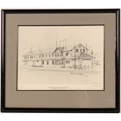 Tonopah & Goldfield Railroad Depot Litho  (91514)