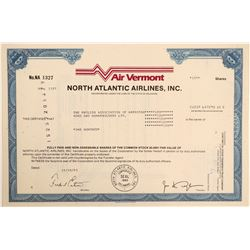 Air Vermont Stock Certificate  (103414)
