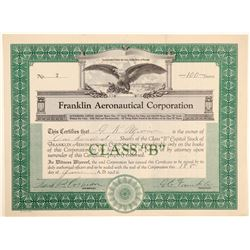Franklin Aeronautical Corporation Stock Certificate  (102634)