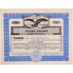 Futura Airlines Stock Certificate  (102630)