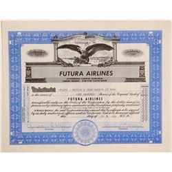 Futura Airlines Stock Certificate  (102630)