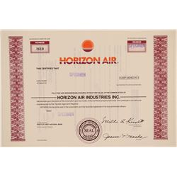 Horizon Air Stock Certificate -- Specimen  (102624)