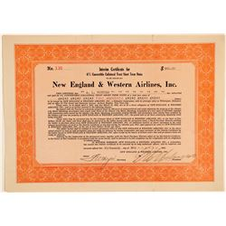New England & Western Airlines, Inc. Certificate  (102603)