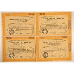 American Austin Car Company Stock Certificates  (103453)