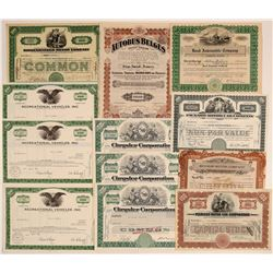 Auto Companies Stock Certificate Collection  (103450)