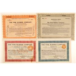 Fisk Rubber Company Stock Certificates  (103464)