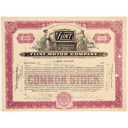 Flint Motor Company Stock Certificate  (103465)